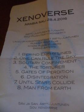 Xenoverse setlist